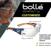 Customised Branded Bolle Rush Plus Corporate Safety Glasses Protecta Vision